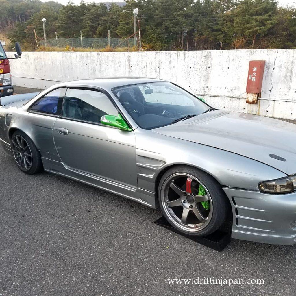 Sleek s14 Silvia zenki at Ebisu drift matsuri